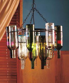 BLACK METAL WINE 16 BOTTLE RACK CHANDELIER LIGHT STAINED GLASS EFFECT