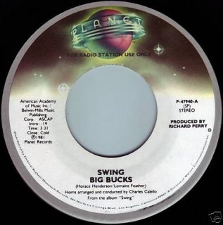 Swing Big Bucks New 45 DJ 1981 Retro Big Band Vocal