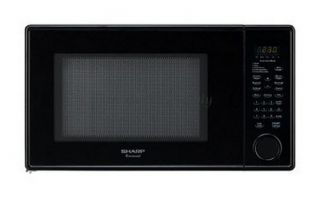 Sharp R409YK Black Carousel Microwave Oven 1000W 1 3 CU ft 5 Auto Cook