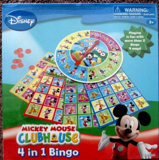 Disney Mickey Mouse Clubhouse 4 in 1 Bingo Game Set 3 New