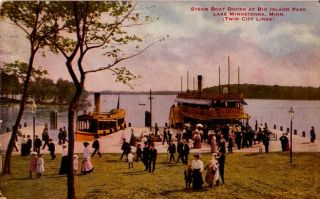 Postcard 912919 Big Island Park Lake Minnetonka MN