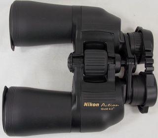 NIKON ACTION 10x50 BINOCULARS WITH NYLON BAG AND CARRYING STRAP