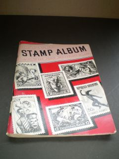 Stamp collection 1951 book big lot estate find