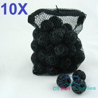 500 Pcs Aquarium 1 Bio Balls Free Bag Filter Media Wet Dry Koi Fish