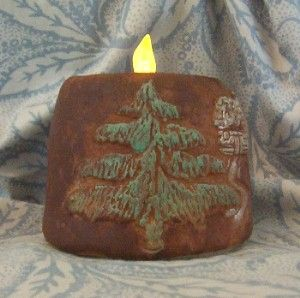 Woodland Moose Pine Cabin Silicone Flicker Candle Mold