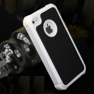 White Black Rugged Rubber Matte Hard Case Cover For iPhone 4 4S 4G
