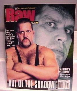 2003 WWF Raw Wrestling Magazine Andre Big Show Poster