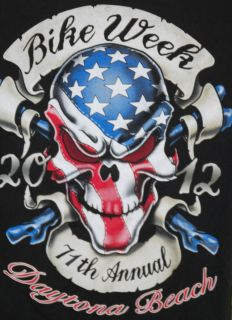 2012 BIKE WEEK SHIRT WORLDS LARGEST HARLEY RALLY DAYTONA BEACH FL USED