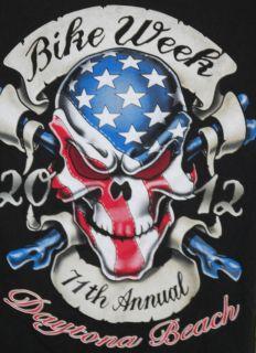 2012 BIKE WEEK SHIRT WORLDS LARGEST HARLEY RALLY DAYTONA BEACH FL USED