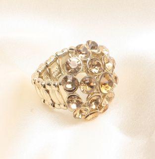 Fashion Jewelry George Brand Big Oval Stone Gold Ring Size