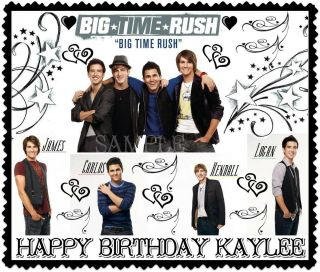 Big Time Rush Edible Frosting Sheet Cake Topper Image Decorations