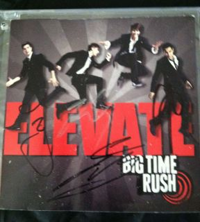 Big Time Rush Elevate CD Band Autographed Booklet