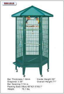 HQ Cages 61818 Parrot Bird Cages Large Parrot Aviary Cage Toy Toys