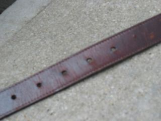 bill adler used brown leather concho belt 42 105