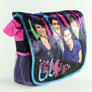 nickelodeon big time rush large messenger bag kendall james carlos
