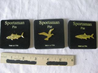 FISH BIRD PINS LOT HUNTING FISHING SPORTSMAN CAMP FAN SHOP SOUVENIRS