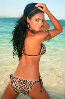 New Womens Sexy Lingerie Leopard Swimwear Bikini Set