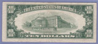 1950 E Ten Dollar Bill Star Note with Low Error Signatures $10 00 G