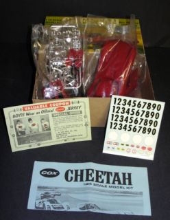 1966 Cox Bill Thomas Cheetah 1 24 Scale Kit Unbuilt SEALED in Original