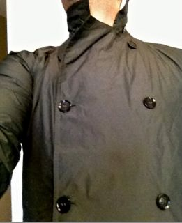 Mens L Nike NSW Trench Rain Coat Jacket Made in Italy Retail $700 Size