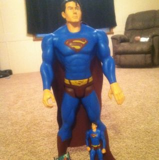 Superman Action Figure   Super Large 30 Inches Tall And Another Figure