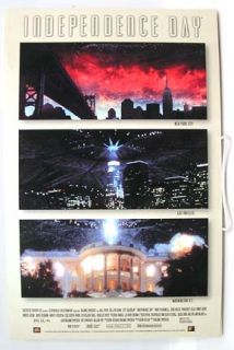 Orig Window Card Poster 96 Independence Day Will Smith