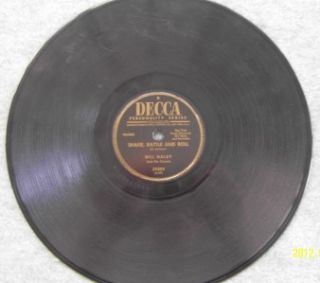 BILL HALEY & COMETS Shake Rattle Roll / ABC Boogie 78 RPM Decca 29204