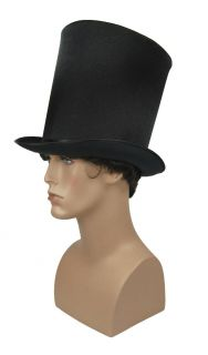 SteamPUNK Victorian Lincoln Top Hat Dickens Bill the Butcher Black