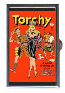 PIN UP TORCHY BILL WARD COMIC Coin Mint Guitar Pick or Pill Box MADE