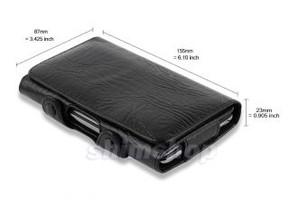 Dell Streak 5 at T O2 UK Black Leather Belt Clip Pouch Case Cover