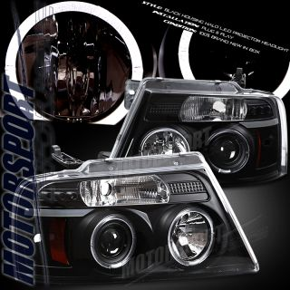 2004 2008 ford f150 black halo projector led headlight it fits on 2004