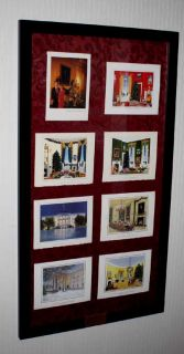 Bill Clinton White House Christmas Card Complete Collection Frame UACC