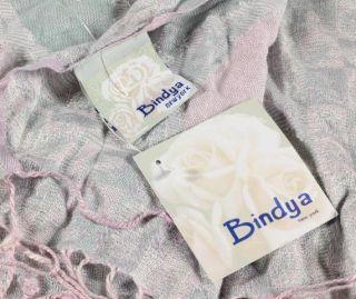 Bindya New York Viscose Pastel Grey Pink Paisley Ladies Wrap Scarf
