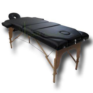 BLACK Portable Massage Therapy Table spa bodyworker salon tattoo