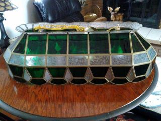 Pool Table Light Tiffany Stained Glass Design Billiards Kitchen Light