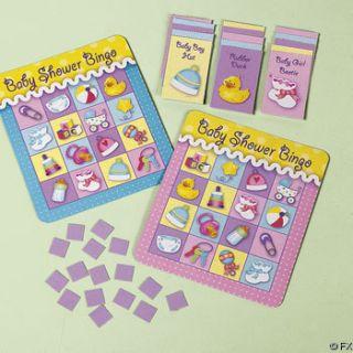 16 Baby Shower Bingo Games Fun Favors $0 Shipping