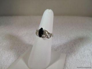 Black Onyx Ladies Ring 10x5mm Black Hills Gold Sterling Silver Multi