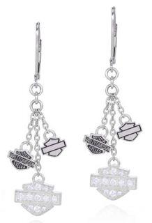Harley Davidson Mod Jewelry Silver Bling Trio B s Womens Earrings