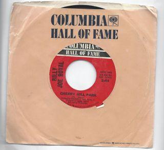BILLY JOE ROYAL DOWN IN THE BOONDOCKS CHERRY HILL PARK 45 RPM COLUMBIA