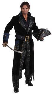 Blackbeard Pirate Adult Mens Costume Black Medieval Theme Party