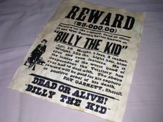 BILLY THE KID OLD WEST WESTERN WANTED POSTER SIGN