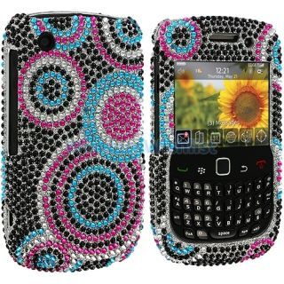 Colorful Bubbles Bling Rhinestone Case Cover for Blackberry Curve 3G