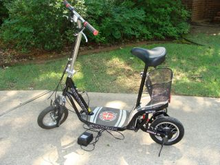 Missile FS Black Red Silver Electric Scooter with Charger and Basket