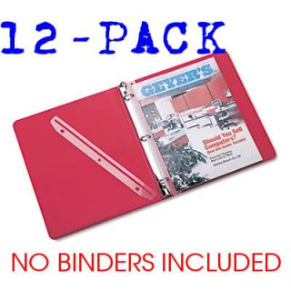 Punched Plastic Magazine Holders Storage 3 Ring Binder Office