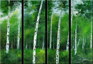 BIRCH Abstract Modern Art Original Oil Painting