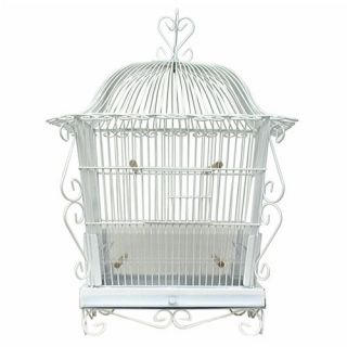 Canary Bird Cage White Vintage Art Deco Victorian Style