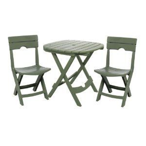 Resin Folding Table Seat Chair Bistro Furniture Outdoor Patio Portable