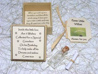 Personalised Grandson Birthday Wish Gift Present Unique