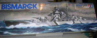 Tamiya 1 350 Bismarck German Battleship Plastic Model