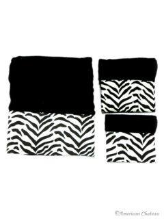 black and white zebra towel set face hand bath this three piece towel